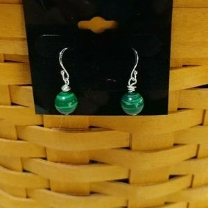 Sundance J.S.Jill Malachite SS Dangle Earrings 491